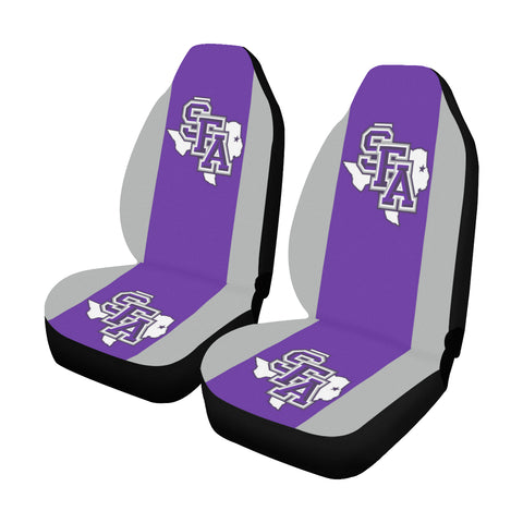 Nacogdoches University Solid Colors Car Seat Covers (Set of 2)