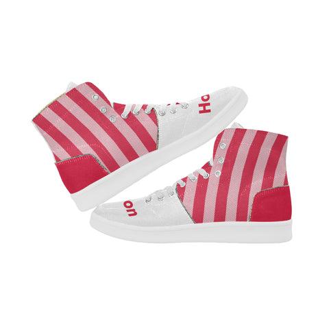 Houston Basketball Supreme Stripes Oxford Women's Retro Canvas Sneakers