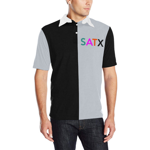 San Antonio Basketball Three-Tone Men's Polo Shirt