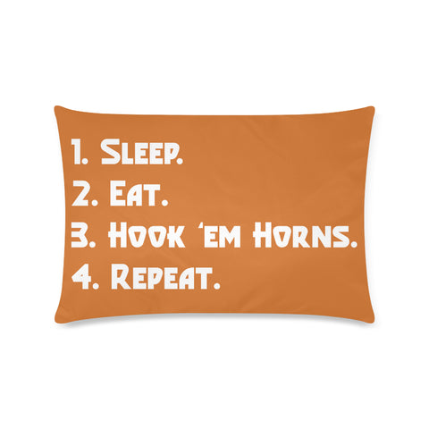 "Austin University ""Checklist"" Rectangle Pillow Case (Twin, Full, Queen, or King)"
