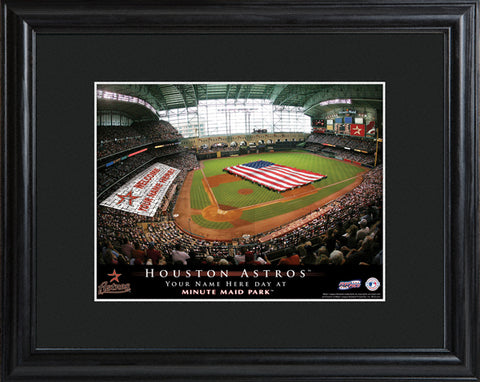 Customizable MLB Stadium Print - Houston Astros