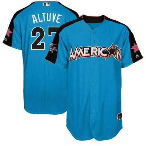Houston Astros #27 Jose Altuve Men's Blue 2017 All-Star American League Stitched MLB Jersey