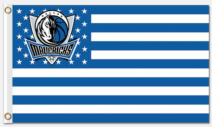 Dallas Mavericks: Stars, Stripes, and Mavericks USA Flag: 3'x5'