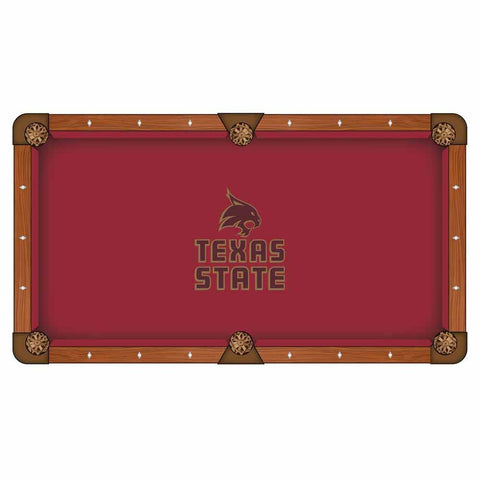 Texas State Bobcats Pool Table Cloth by HBS