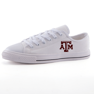 Texas A&M Aggies: Low-top fashion canvas shoes (EU Size; see Attached Chart for US Size)