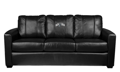 Texas Pro & Collegiate Teams' Silver Sofa (A&M, Astros, Baylor, Mavs, Rangers, Spurs, Stars)