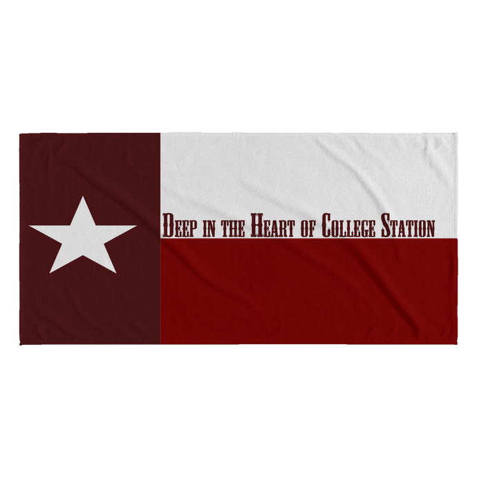 Deep in the Heart of Texas Flag Collegiate Beach Towel (8 schools)