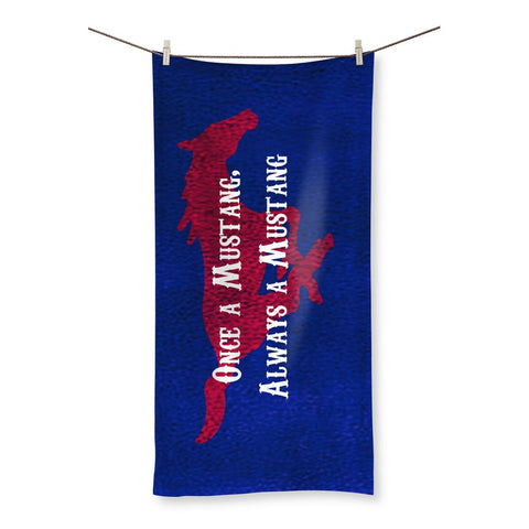 "Dallas University ""Once a Mustang, Always a Mustang"" Beach Towel"