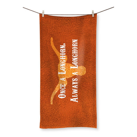 "Austin University ""Once a Longhorn, Always a Longhorn"" Beach Towel"