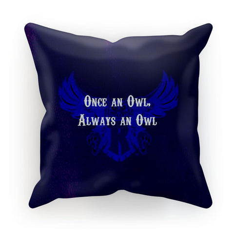 "Blue Houston University ""Once an Owl, Always an Owl"" Cushion"