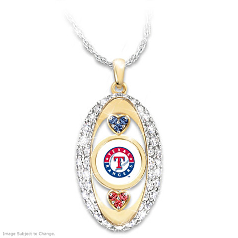 "Texas Rangers ""For the Love of the Game"" Pendant with Swarovski Crystals"