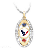 "Houston Texans ""For the Love of the Game"" Swarovski Crystal Pendant Necklace"