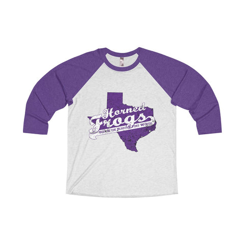 "Fort Worth University ""Deep in the Heart"" Unisex Tri-Blend 3/4 Raglan T-Shirt"