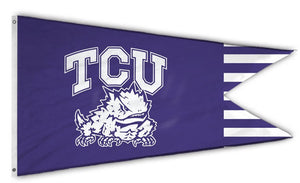 "TCU Horned Frogs: Dual Banderole Flag; 14""x24"""