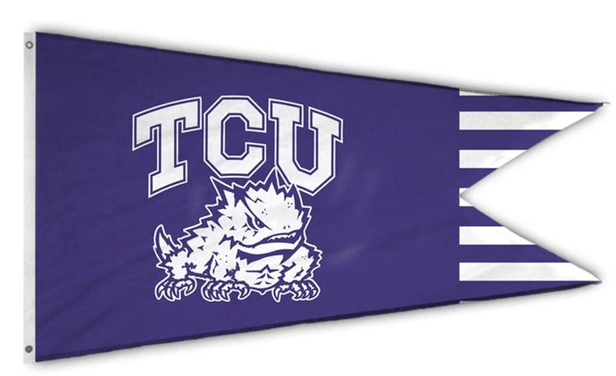 TCU Horned Frogs: Dual Banderole Flag; 14