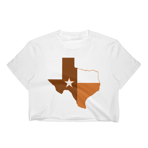 Austin State of Texas Flag Women's Crop Top