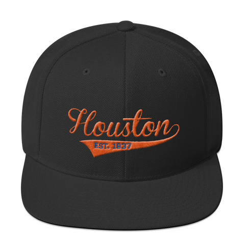 Houston Baseball Swish Snapback Hat