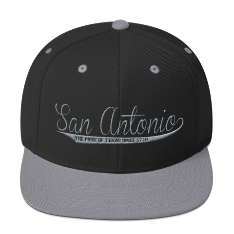 San Antonio Basketball Silver & Black Swish Snapback Hat