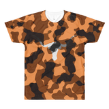 Austin University Camouflaged Horn Men's All-Over Printed T-Shirt