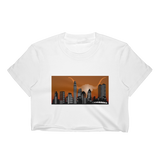 Austin University Rising Cattle Skyline Women's Crop Top