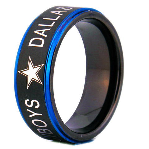 Dallas Cowboys: Men's Tungsten Comfort Fit Ring