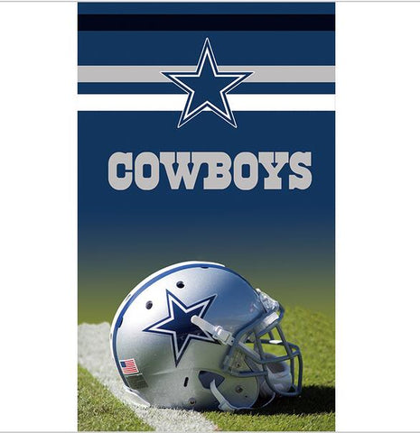 Dallas Cowboys: Helmet on the Field Banner; 3'x5'