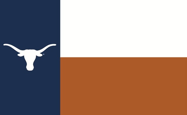 Texas Longhorns: Orange, White, and Blue Longhorn State of Texas and 2 other varieties Flag; 3'x5'