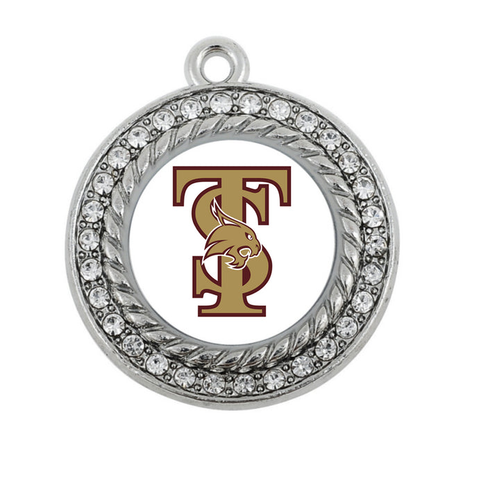 Texas State Bobcats: Antique Plated Charm