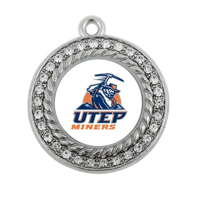 UTEP Miners: Antique Plated Charm