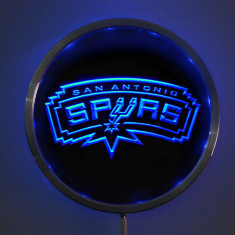 "San Antonio Spurs: LED Neon Round Signs; 10"" Bar Sign with RGB Multi-Color Remote Wireless Control Function"