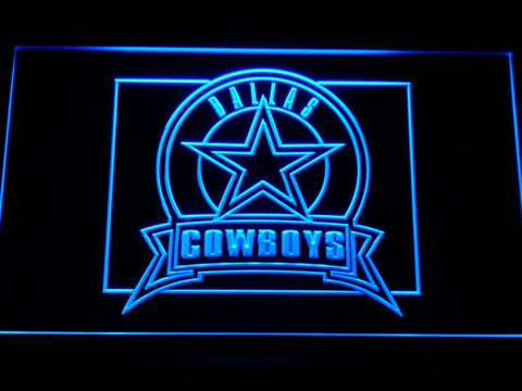 Dallas Cowboys Badge LED Neon Sign with On/Off Switch; 20+ Colors & 5 Sizes to choose