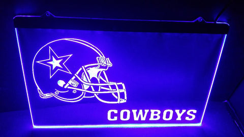 Dallas Cowboys: Helmet LED Neon Light Sign