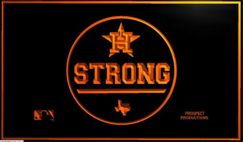 Houston Astros HOUSTON STRONG Neon/LED-Lighted Pub Sign
