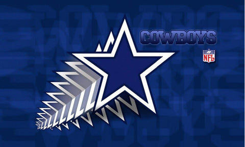 Dallas Cowboys 3' x 5' Cascading Stars 100% Polyester Flag