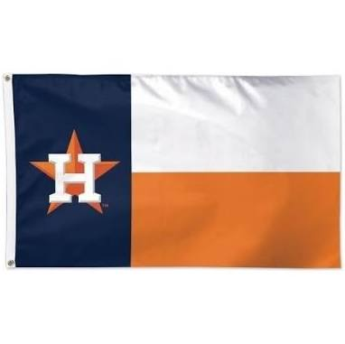 Houston Astros: Alternate Texas State Flag with Astros Colors; 3'x5'