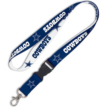 Dallas Cowboys: Breakaway Lanyard - Navy Blue/White