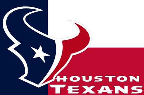 Houston Texans: Logo Texas Flag; 3'x5'