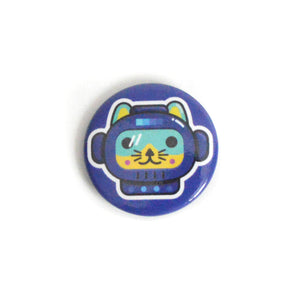 "Astro Kitty - 1.5"" Round Button"