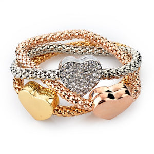 Metal Chain Bracelet Fashion Jewelry 3pcs