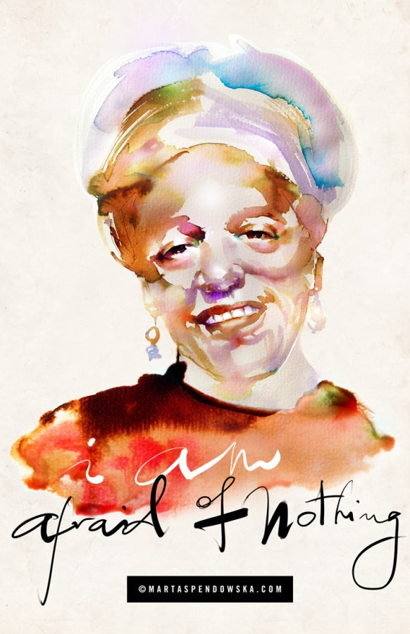 Watercolor illustration, watercolor painting print Audre Lorde by Marta Spendowska