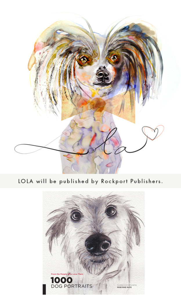 Watercolor illustration, watercolor painting animals dog illustration by Marta Spendowska