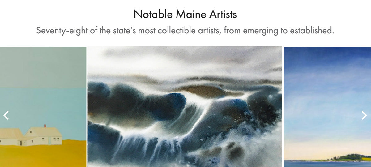 Artist in Maine : Maine Paintings from Maine Home Design Magazine.