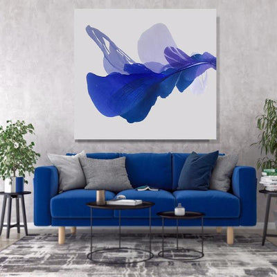 abstract art floral Marta Spendowska bloomlands original fine art Blue bell 52x52""