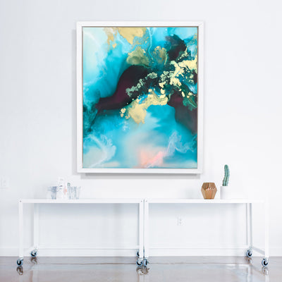 Abstract art Marta Spendowska verymarta wetlands original art How deep the waking hours guide you 30x24""