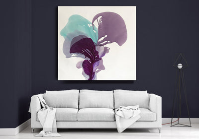 abstract art floral Marta Spendowska bloomlands original fine art Inside The Moon Iris 53x51""