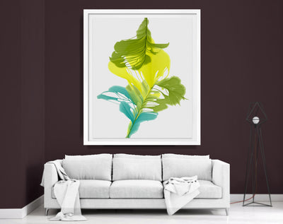 "abstract art floral Marta Spendowska bloomlands original fine art Abstract Floral Lilly 68x65"" Framed Paper"