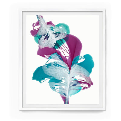 "Abstract Floral Camille 65x55"" Framed Paper"