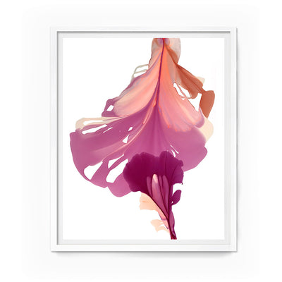 "abstract art floral Marta Spendowska bloomlands original fine art Abstract Floral Lee 44x39"" Framed Paper"