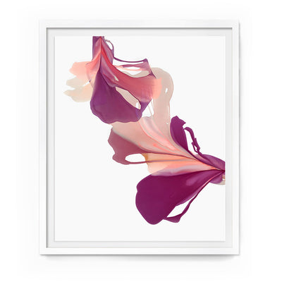 "abstract art floral Marta Spendowska bloomlands original fine art Abstract Floral Bell 44x39"" Framed Paper"