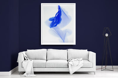 "abstract art floral Marta Spendowska bloomlands original fine art Our blue windows to flying 51x42"" Framed Paper"